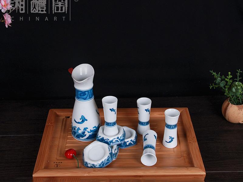 定制|【厂家推荐】有口碑的步步高升青花陶瓷酒具