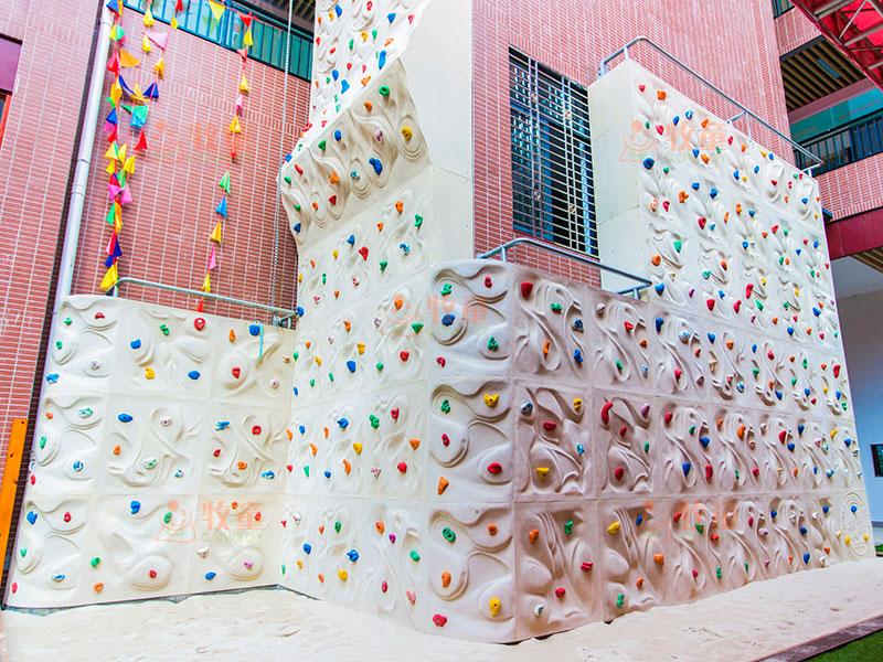 小区公园攀岩游乐设备-室外儿童攀爬墙定制