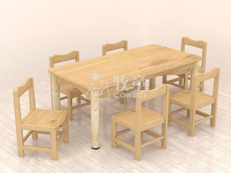 幼儿园课桌椅上哪买好,牧童幼儿园实木桌椅定制