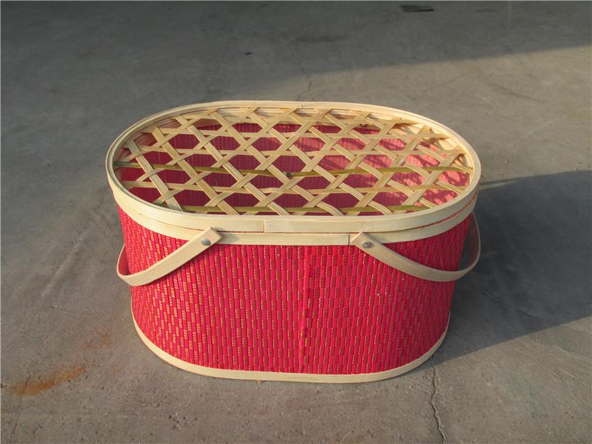 优良的椭圆形竹篮哪里买-青海竹篮