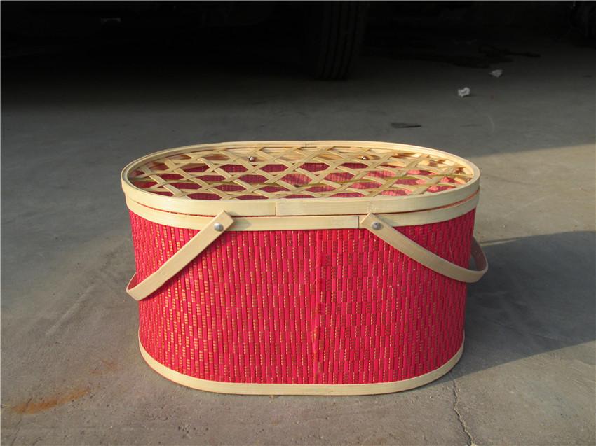 安徽柳编鸡蛋篮批发 品质椭圆形竹篮现货供应