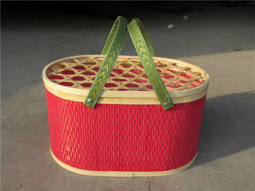 椭圆形竹篮市场价格-枣庄鸡蛋篮厂家