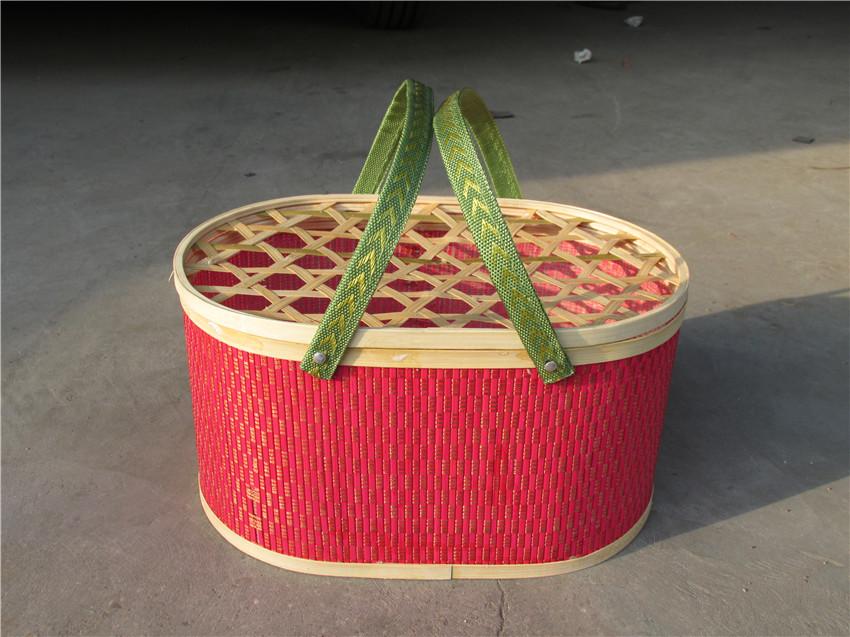 竹编鸡蛋篮价格-山东哪里有供应口碑好的椭圆形竹篮