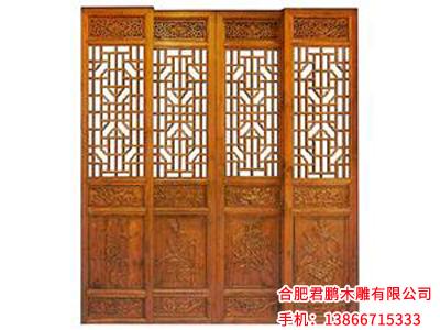 安徽仿古木雕门窗价格范围-芜湖仿古门窗订制