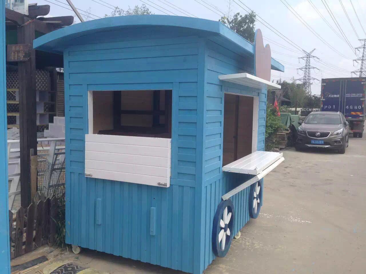 浙江哪里有供应品质好的防腐木售货亭 重庆防腐木售货亭供应