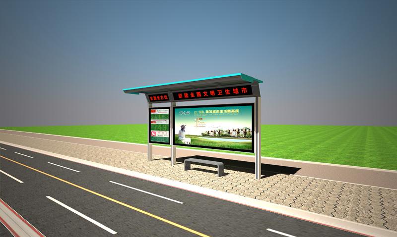 优良的城市候车亭就在宿迁天盛|公交候车亭广告