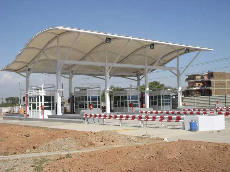 威海收费站膜结构制作_供应使用安全的收费站膜结构