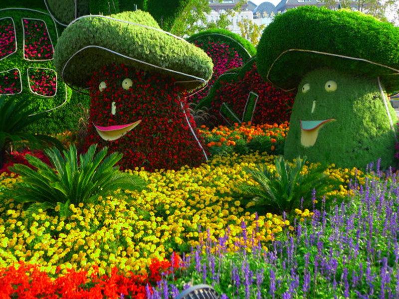 定做绿雕工艺品绿色仿真草坪植物造型雕塑创意绿雕动物造型制作