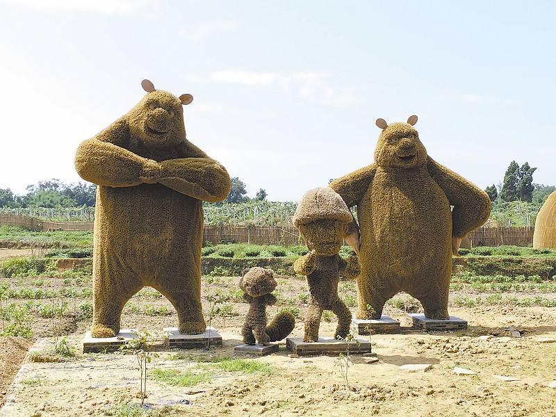 编织小动物 稻草