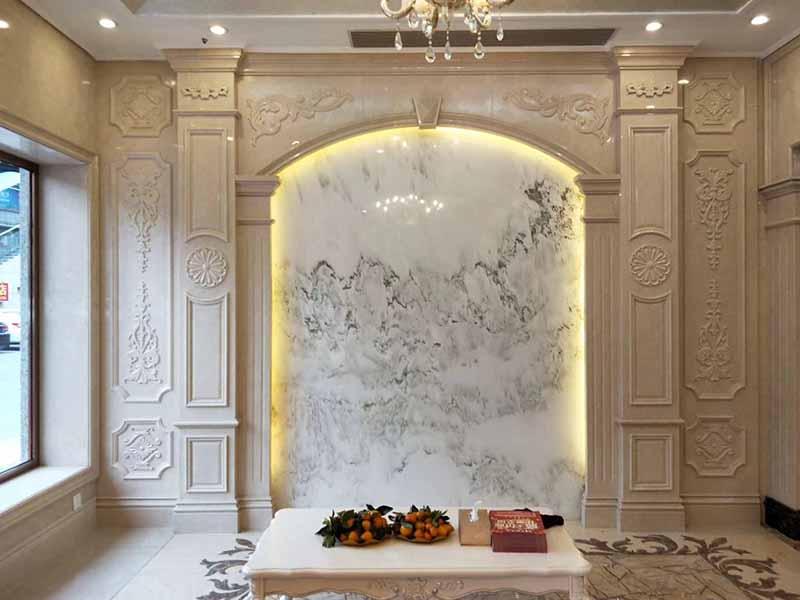背景墙定制欧式客厅石材背景墙
