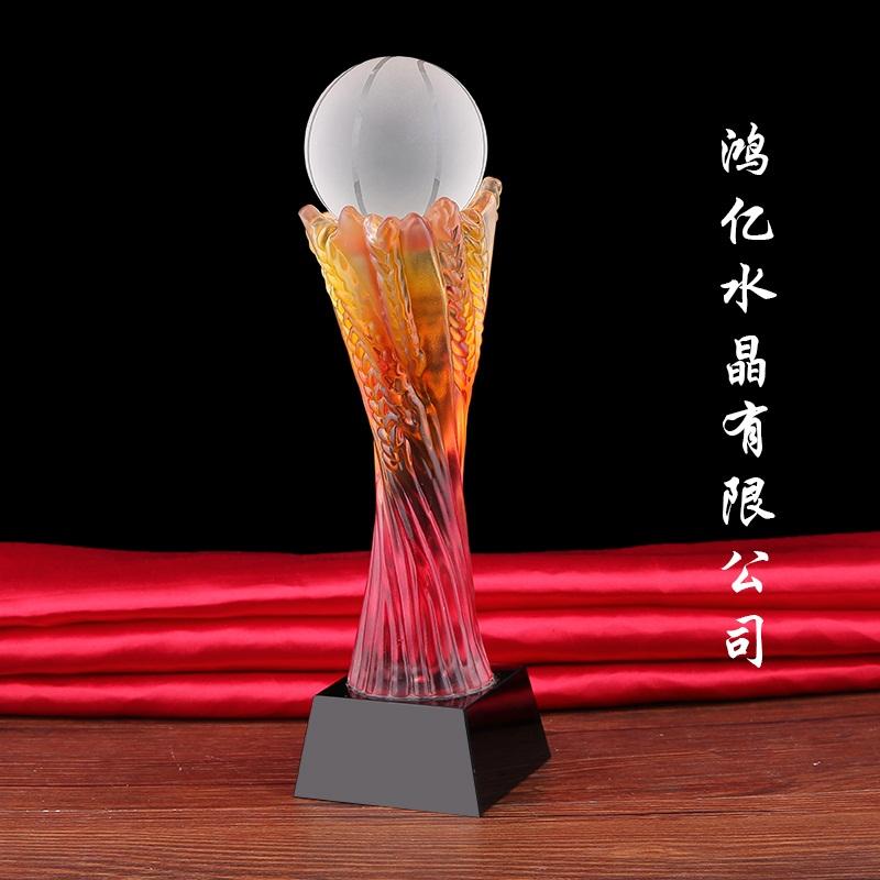 供应有口碑的琉璃奖杯 同学会纪念礼品
