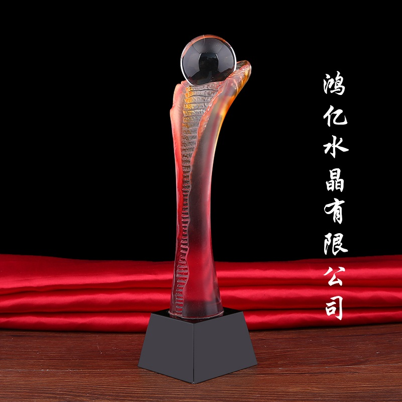 哪里能买到好的琉璃奖杯 创新的琉璃礼品
