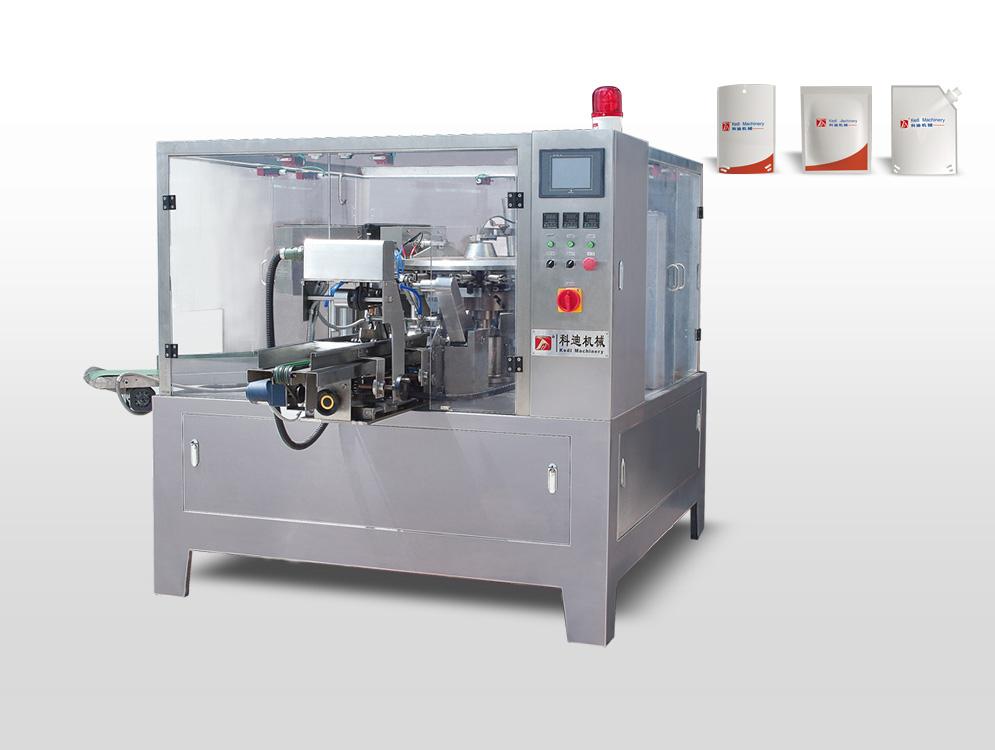 预制袋包装机厂家供应_科迪机械提供专业的给袋式包装机双加料