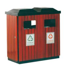 钢木分类垃圾桶1706-13698