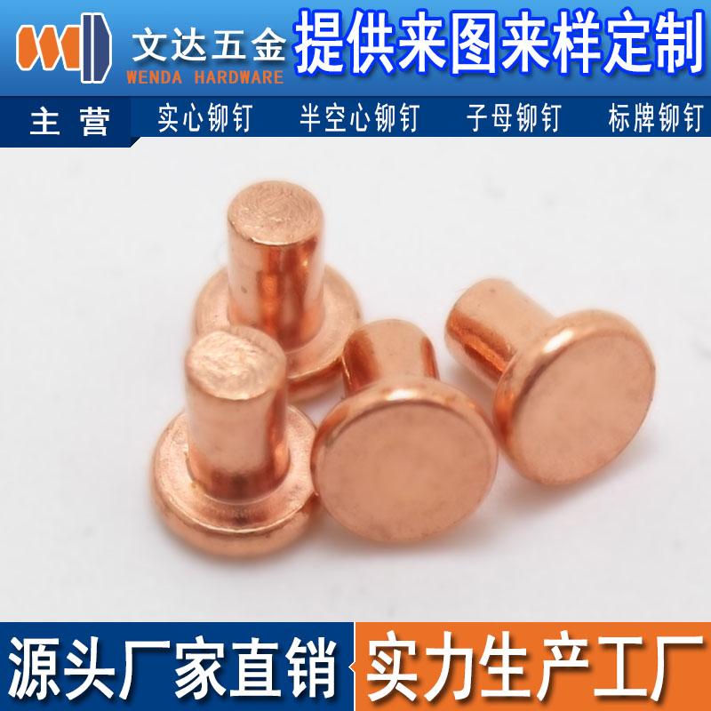 铜铆钉经久耐用,上等铜铆钉文达五金供应