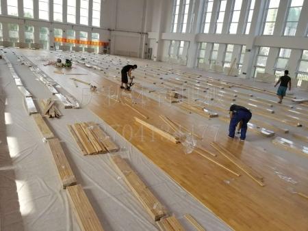 学校体育馆实木运动地板_大量出售高性价体育木地板