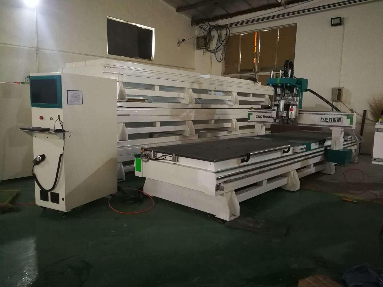 2018新款双工序排钻包开料机厂家 双工位高速板式家具开料机