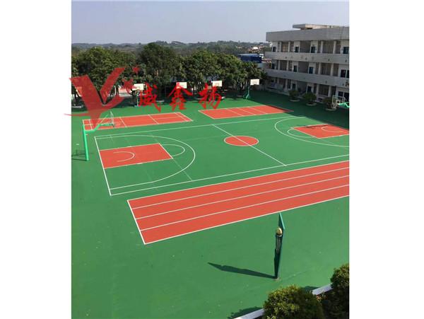 广西硅PU篮球场,室外篮球场工程