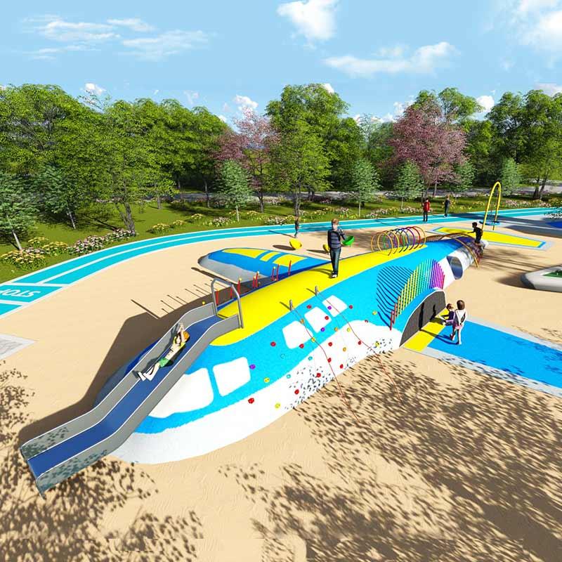 湖北无动力飞行主题儿童乐园规划设计户外大型儿童游乐设施定制