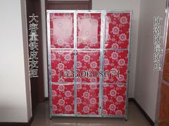 镀锌铁皮大容量衣柜拆装组合更衣柜防潮防晒防虫储物柜