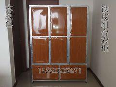 镀锌铁皮大容量衣柜拆装组合更衣柜经济型储物柜