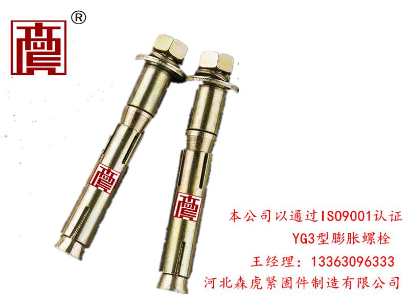 山东YG3型膨胀螺栓加工厂家|河北森虎定制