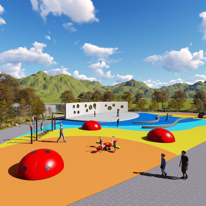 厂家直销户外儿童拓展探险乐园大型室外无动力儿童乐园设施定制