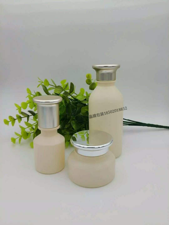 优质的护肤品玻璃瓶 精华液套装瓶子 玻璃瓶拉管瓶子