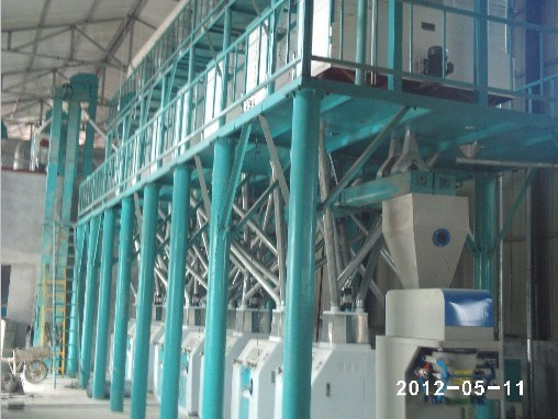 小麦钢架式加工设备
