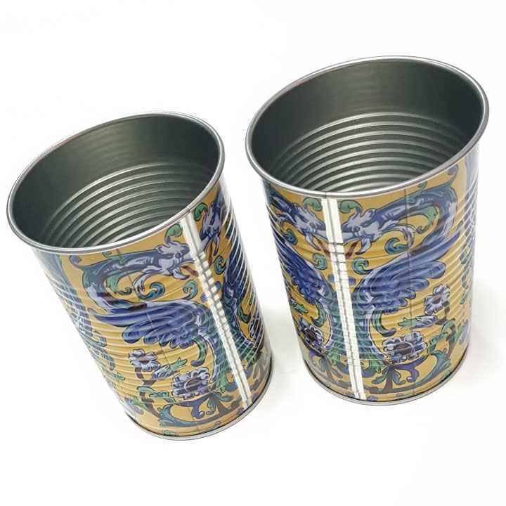 厂家直销新款圆罐食品铁盒迷你圣诞礼品铁盒咖啡铁罐定制