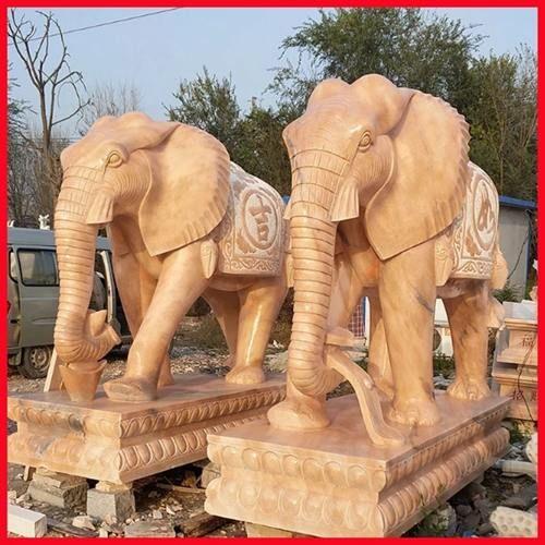 巢湖石雕大象出售【细致周到】巢湖石雕大象加工厂家|石雕定制