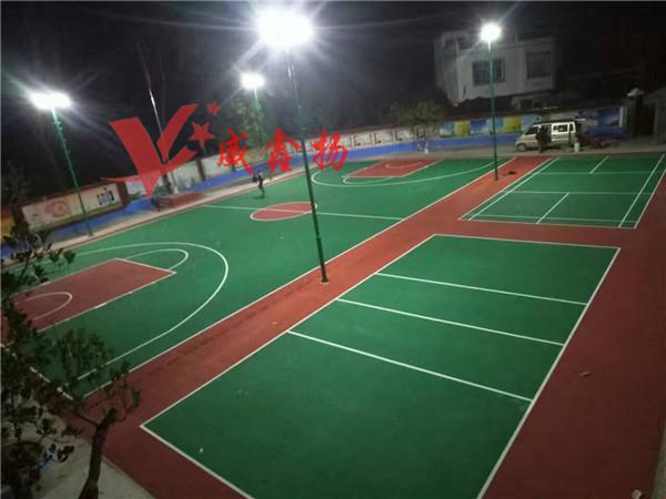 南宁丙烯酸球场,篮球场施工建设