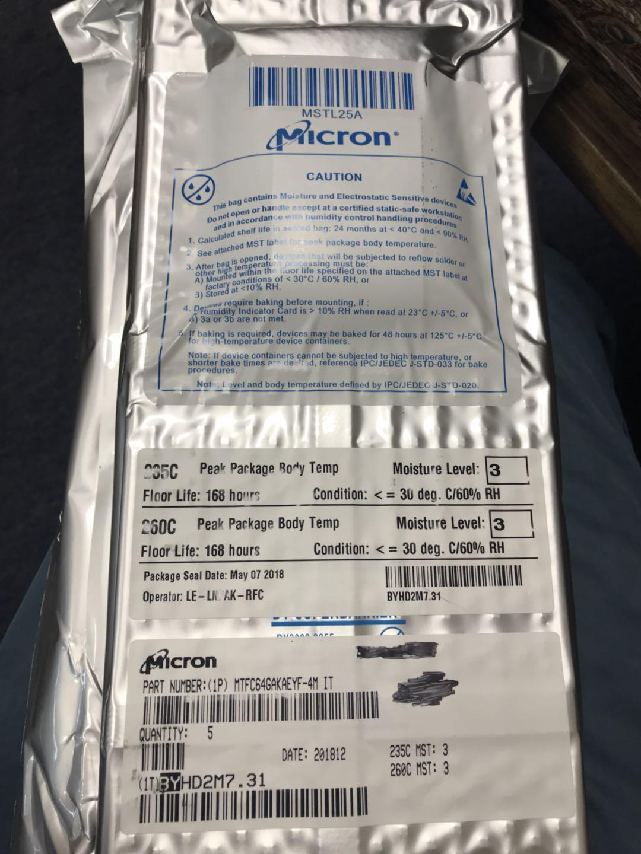 MTFC64GAKAEYF-4MITFLASH存储芯片