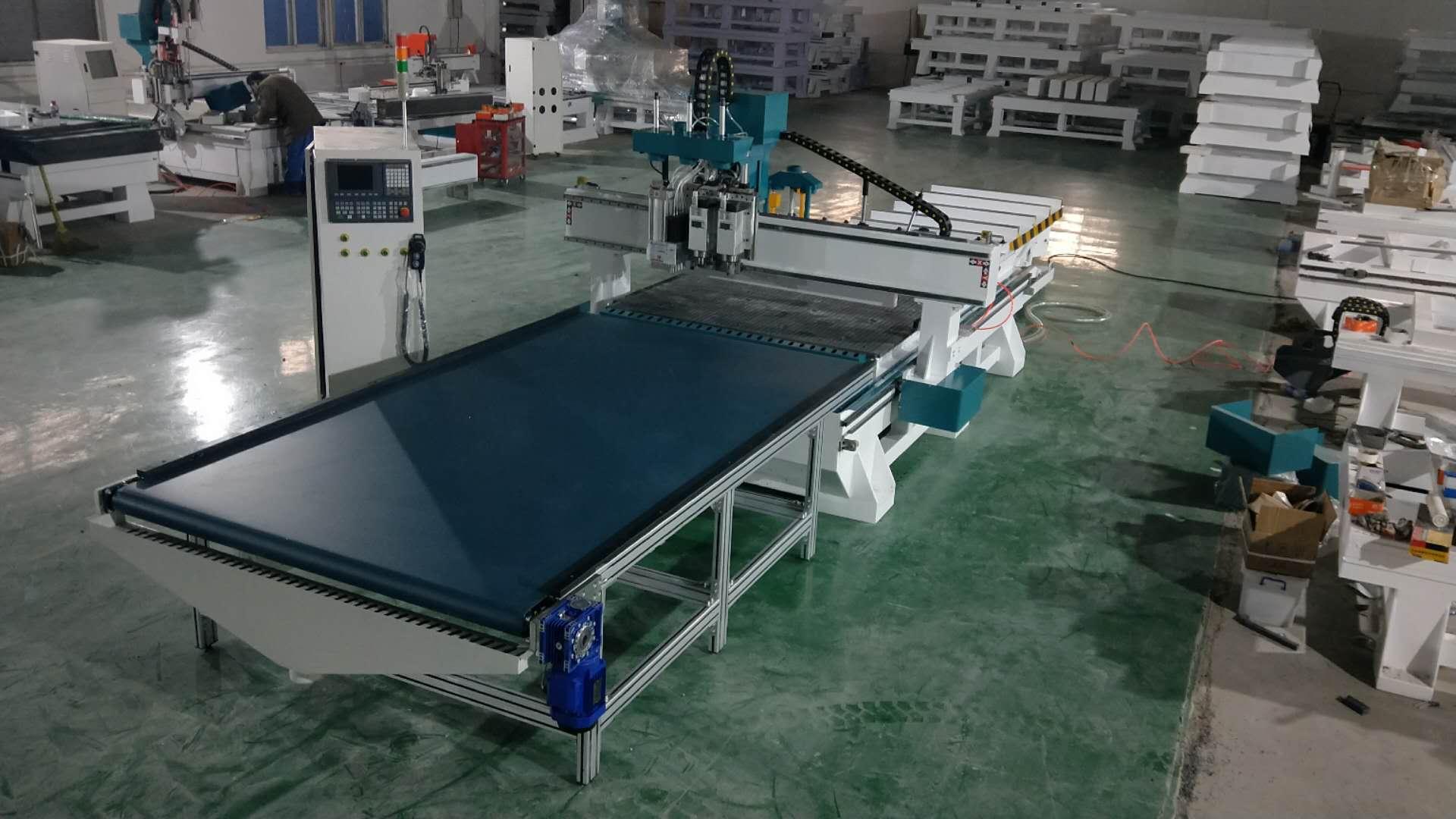 排钻包加工中心厂家 板式家具开料机 全自动三合一孔料机