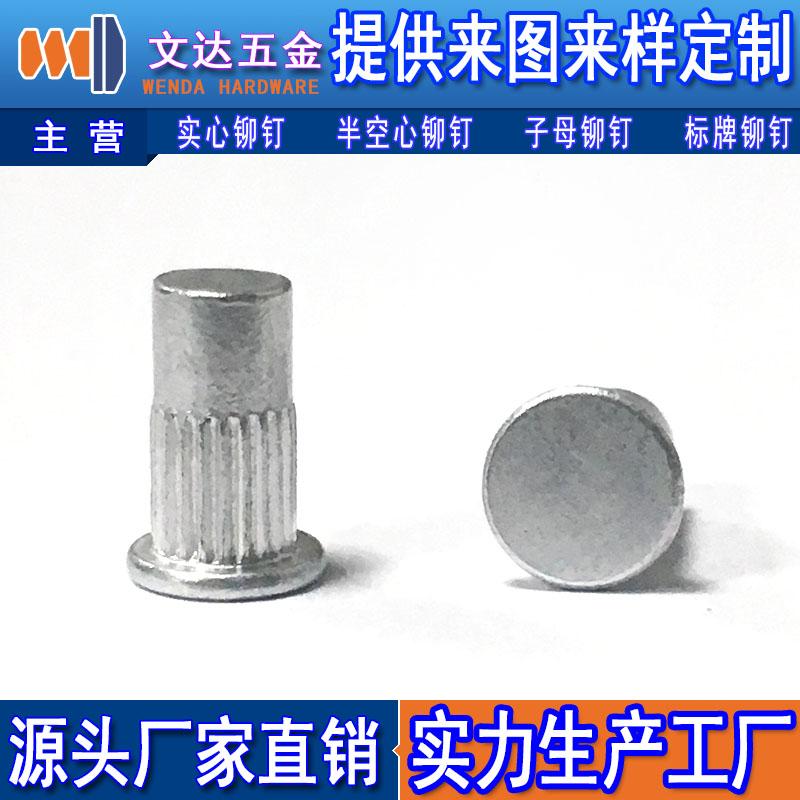 深圳品牌好的平头竖纹铆钉批售 平头竖纹铆钉代理