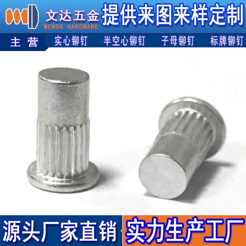 平頭豎紋鉚釘代理,【實力廠家】生產供應平頭豎紋鉚釘