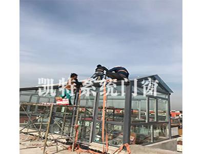 阳光房施工进行中图片