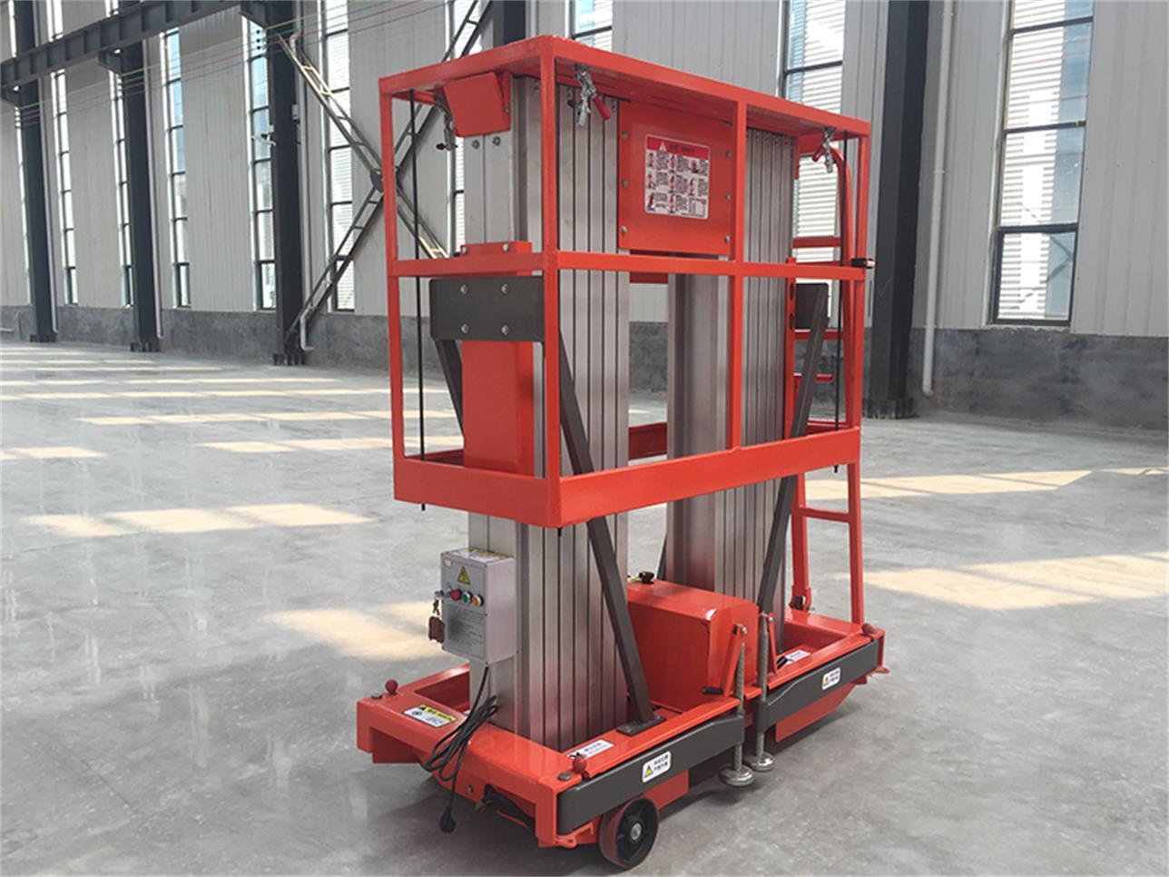 上海市优惠的人工移动铝合金升降机哪里有供应 人工移动型铝合金升降机采购
