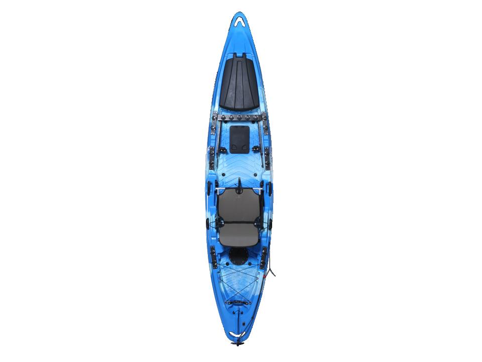 马达电动船 脚踏皮划艇 PE塑料艇