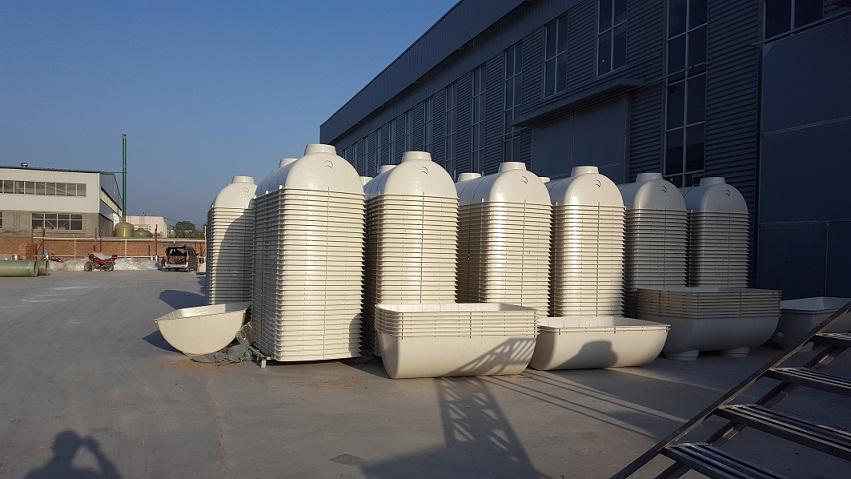 河北阔龙阔模压化粪池 成品化粪池价格 玻璃钢化粪池厂家