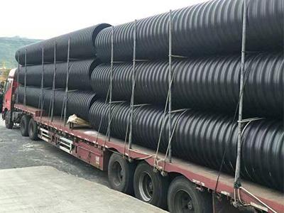 塑钢缠绕管厂家 HDPE钢带增强螺旋波纹管优选丰闽管业