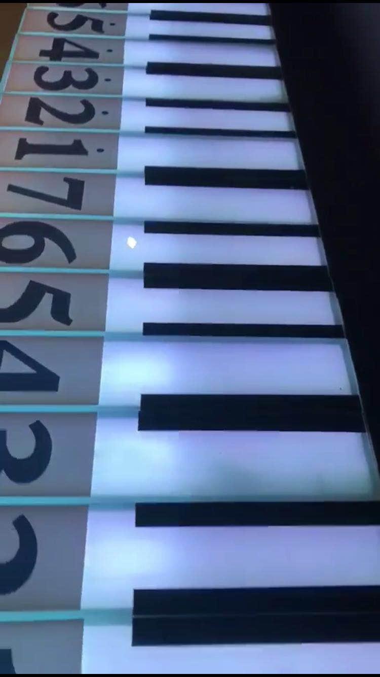 感应声音钢琴地砖灯