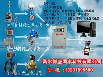 IC卡蒸汽流量预付费监控系统