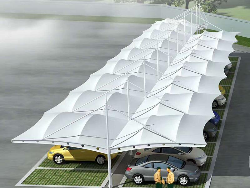 郎溪膜結構停車棚施工-常州鋼膜車棚推薦