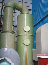 小型锅炉脱硫塔说明 玻璃钢脱硫除尘器