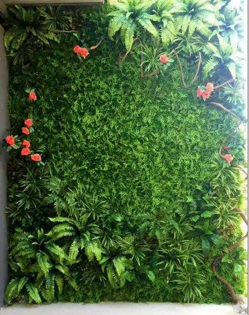 仿真草坪墙 植物墙-天津沐杉专业设计安装2018新款绿植墙