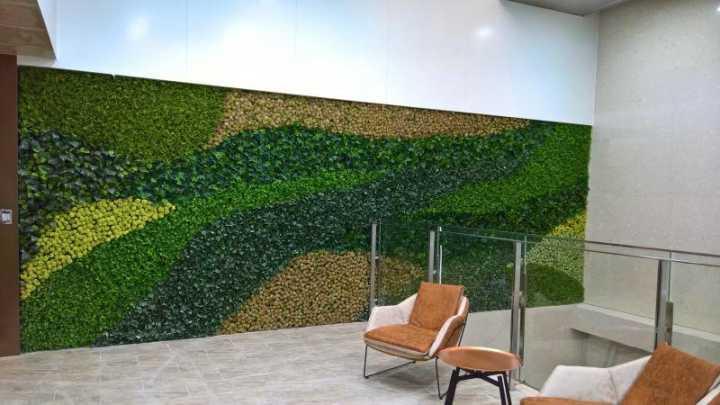 仿真绿植墙 专业厂家设计安装2018新款仿真绿植墙造型可定制