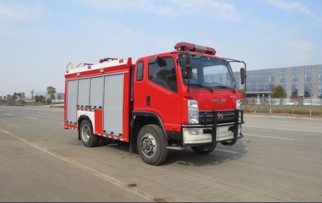 四吨四驱水罐消防车