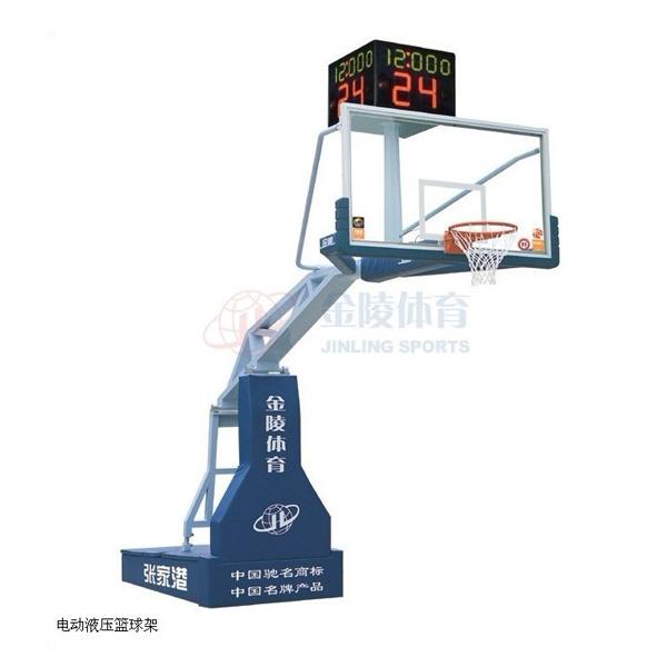 金陵亚运之星豪华型电动液压篮球架