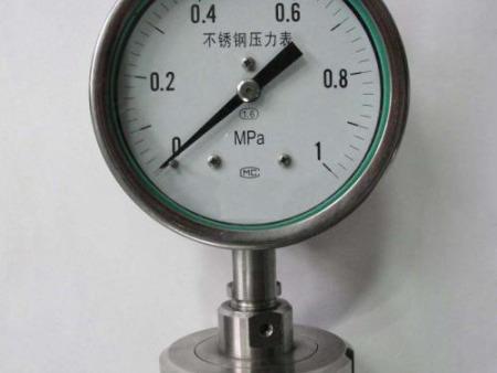 宁夏隔膜压力表——天亚仪器仪表